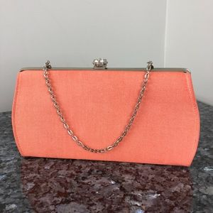 Vintage 60s | Coral Clutch Handbag Formal Casual